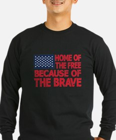 Home of the Free Because of the Brave USA Flag Lon