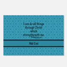 Philippians 4:13 Word tea Postcards (Package of 8)