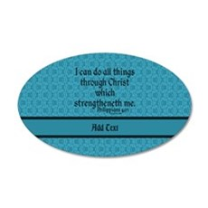Philippians 4:13 Word teal Wall Sticker