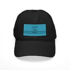 Philippians 4:13 Word teal Baseball Hat