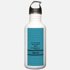 Philippians 4:13 Word Sports Water Bottle