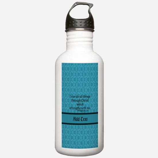 Philippians 4:13 Word Water Bottle