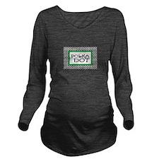 Polka Dot Long Sleeve Maternity T-Shirt