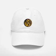Yellow and Black Dragon Phoenix Yin Yang Hat