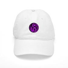 Purple and Black Dragon Phoenix Yin Yang Hat