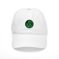 Green and Black Dragon Phoenix Yin Yang Hat