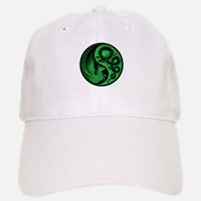 Green and Black Dragon Phoenix Yin Yang Hat