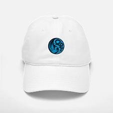 Blue and Black Dragon Phoenix Yin Yang Hat
