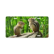 Two Chipmunks Aluminum License Plate