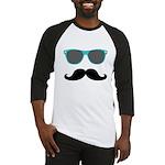 Mustache Blue Sunglasses Baseball Jersey