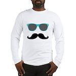 Mustache Blue Sunglasses Long Sleeve T-Shirt