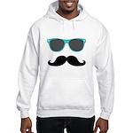 Mustache Blue Sunglasses Hoodie Sweatshirt