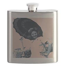 Umbrella Girl Flask