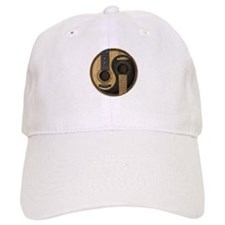 Old and Worn Acoustic Guitars Yin Yang Hat
