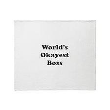 World's Okayest Boss Throw Blanket
