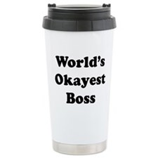 World's Okayest Boss Travel Mug