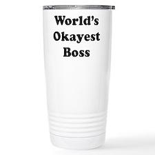 World's Okayest Boss Travel Mug