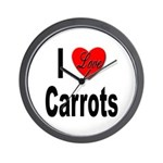 I Love Carrots Wall Clock