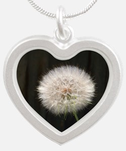 Gone to Seed Silver Heart Necklace