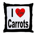 I Love Carrots Throw Pillow