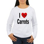 I Love Carrots (Front) Women's Long Sleeve T-Shirt