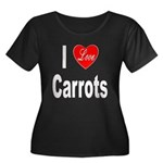 I Love Carrots (Front) Women's Plus Size Scoop Nec