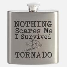 Nothing Scares Me I Survived Tornado Flask