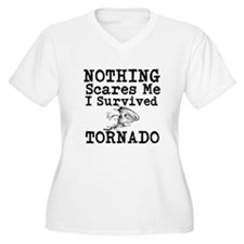 Nothing Scares Me I Survived Tornado Plus Size T-S