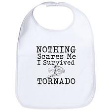Nothing Scares Me I Survived Tornado Bib