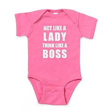 Baby Bodysuit - White Letters