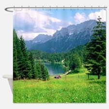 Alpine Meadow Lautersee Bavaria Shower Curtain