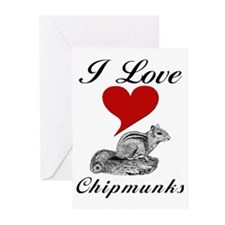 I Love Chipmunks Greeting Cards (6)