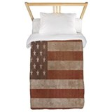 Vintage american flag Twin Duvet Covers