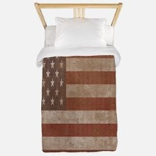 Old American flag Twin Duvet
