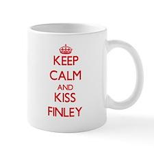 Keep Calm and Kiss Finley Mugs