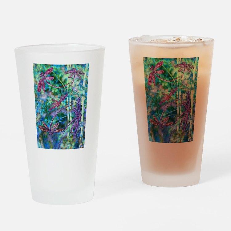 Dragonflies Forest Light Drinking Glass