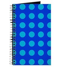 Large Blue Polka Dotted Journal