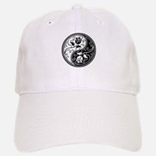 White and Black Yin Yang Roses Hat