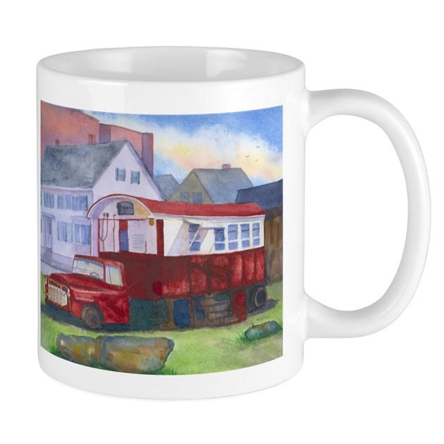 Gilleys Diner Portsmouth Nh Mug By Roseannmeservewatercolors