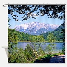 Alpine Lake Bavaria Germany Shower Curtain