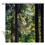 Pine forest shower curtain Shower Curtains