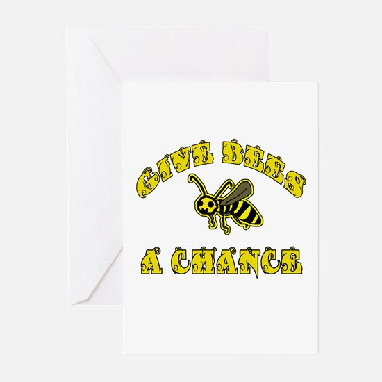 Give Bees a Chance Greeting Cards (Pk of 10)