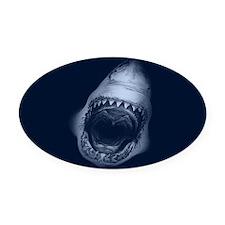 Shark Bite Oval Car Magnet