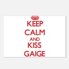 Keep Calm and Kiss Gaige Postcards (Package of 8)