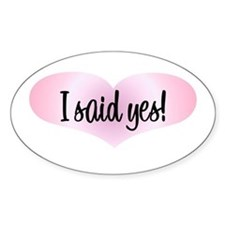 isaidyespinkheartwhtlng Decal