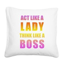 Square Canvas Pillow - Pink Ombre
