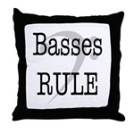Basses Rule Throw Pillow