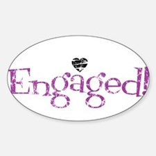 Cute Engagement Sticker (Oval)
