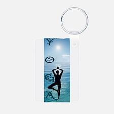Yoga Blue Ocean Keychains
