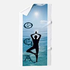 Yoga Blue Ocean Beach Towel